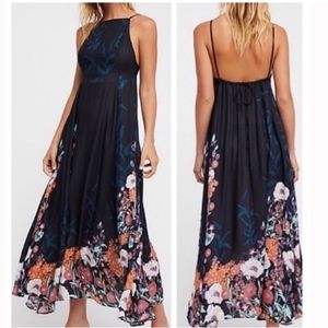 Free People Embrace It Floral High Neck Maxi Dress